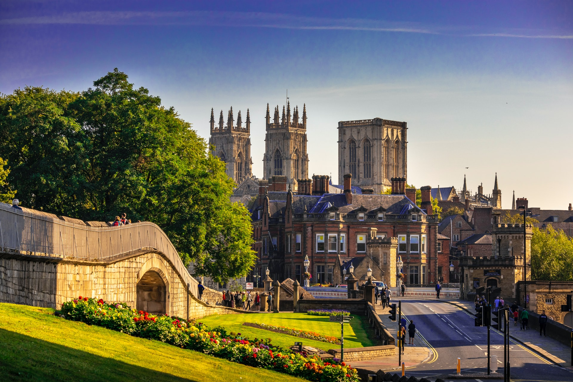 York with views of York Minster in the background