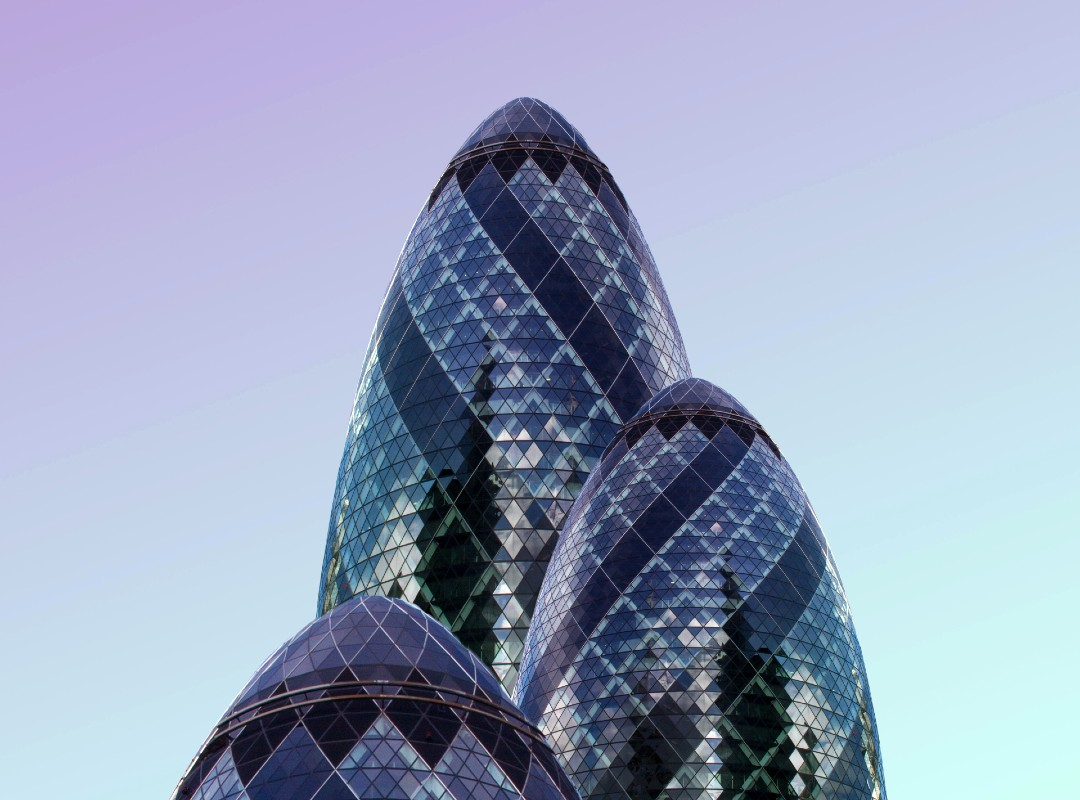 30 St Mary Axe London blur sky